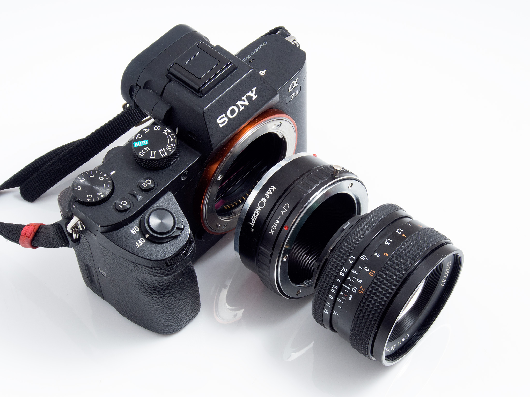 Kamera - adapter - objektiv